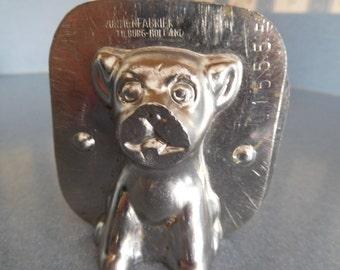 Sitting Dog by Vormenfabrieck #15555 Vintage Metal Candy Mold
