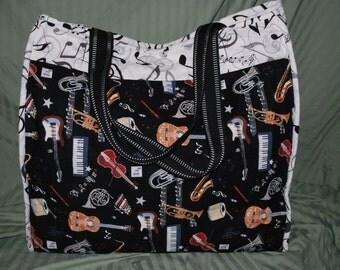 Musical Tote, Large Tote, Large Handbag