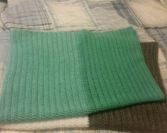 Mint green stroller blanket