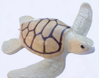 Ceramic Sea Turtle Figurine