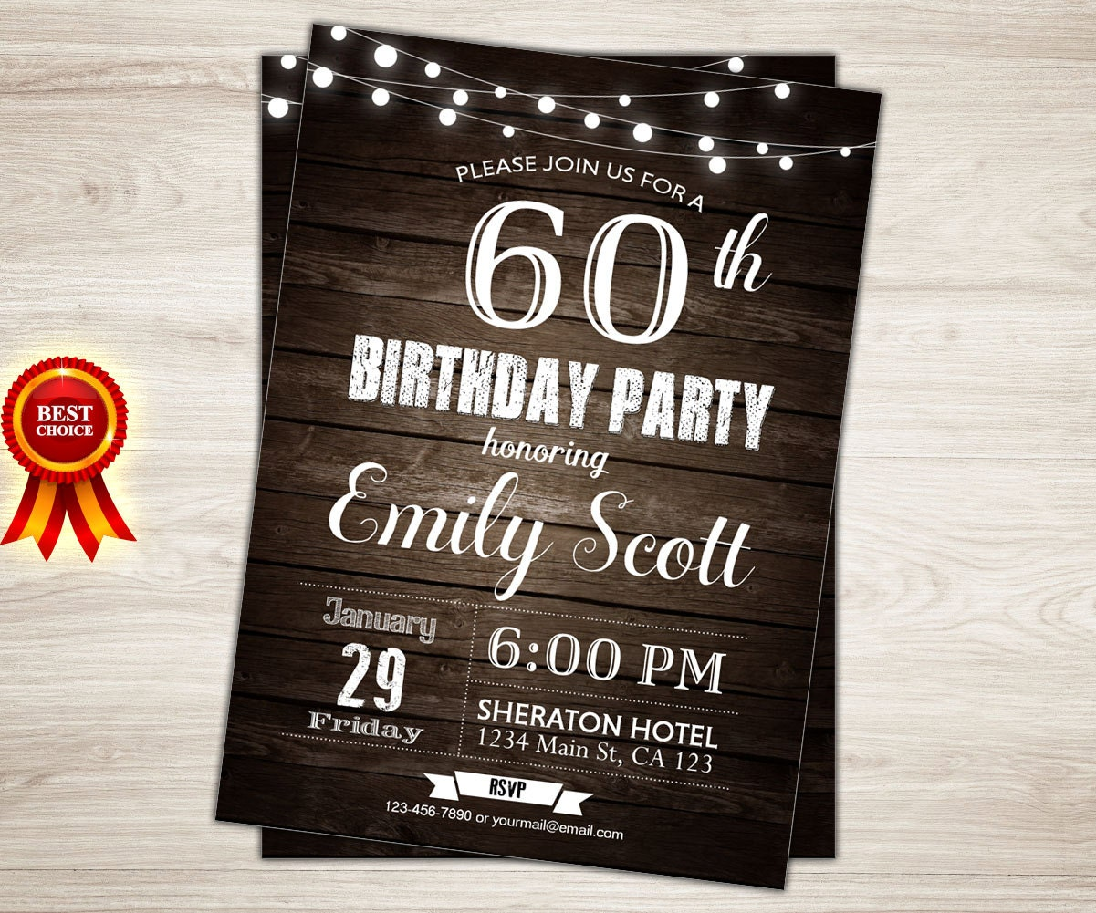 60th birthday party invitations gidiyedformapolitica 60th birthday party invitations filmwisefo Image collections