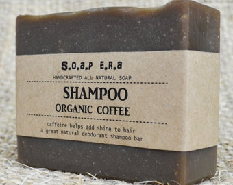 Coffee Shampoo Bar-for all types of hair-Odour remover - Soap Era all natural handmade vegan soap