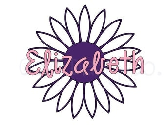 Personalized Daisy Vinyl Decal