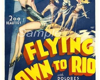 Vintage Flying Down to Rio Poster Print