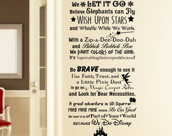 In This House We Do Disney Wall Decal  Disney Wall Quotes Wall Vinyl Decal Part 10