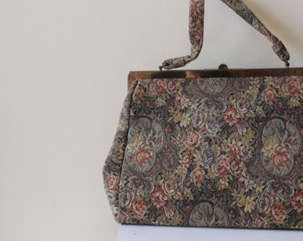 1960s Upholstery Fabric Purse