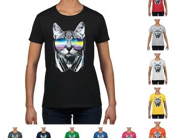 DJ Cat Music Women's Fashion T-Shirt