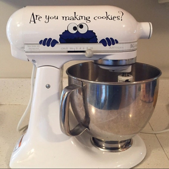 Kitchen Art Mixer: Kitchen Aid Decal Mixer Decal Cookie Monster By TheDecalShoppeInc