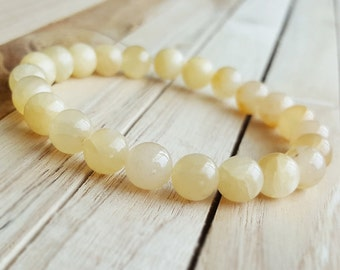 Yellow Topaz Bracelet Mala Healing Jewelry Yoga Bracelet,Meditation Bracelet, women Men Healing Bracelet recognition B36