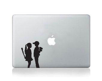 Banksy Boy Meets Girl Vinyl Decal for Macbook
