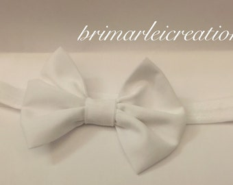 White head band and bow