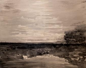 Painting landscape chrome - ORIGINAL