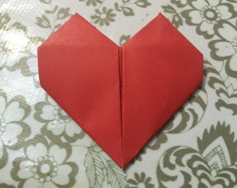 lot of 10 origami hearts