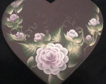 hand painted heart keepsake box