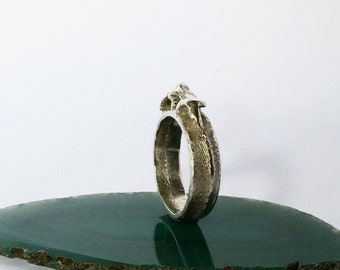 Handcrafted silver ring silver