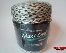 Maxi-Cord Braided Polypropylene 6mm Macrame Cord (100 Yards) Multi-color