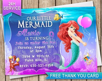 Little mermaid party invitations gangcraft little mermaid invitation etsy party invitations filmwisefo