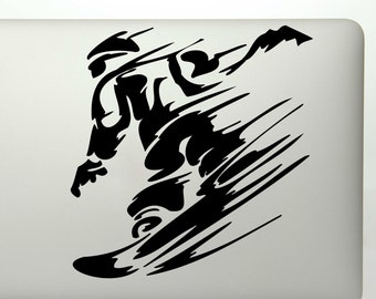 Snowboarding Decal Etsy - Custom die cut vinyl stickers snowboard