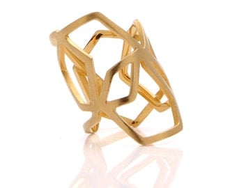 La Ruche Twisted vermeil ring