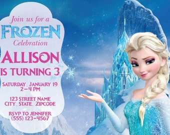 FROZEN BIRTHDAY INVITATION Elsa Invitation Girl Frozen - Birthday invitation frozen theme