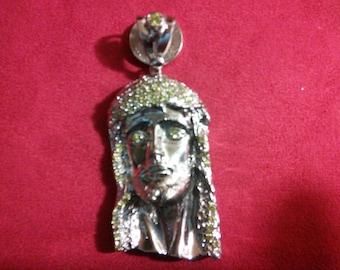 jesus face, silver 925 charm/29.5 grams