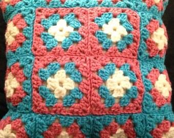 Crochet Square Pillow