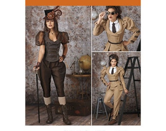 Sewing Pattern for Victorian/ Steampunk Costumes for Misses, Simplicity Pattern 8114, Halloween Costume, Womens Steampunk, Cosplay Costume