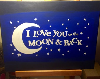 Love you to the moon and back Canvas Painting