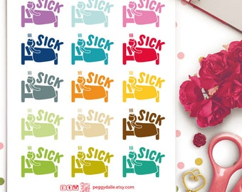 Sick Day Planner Stickers | Life Planners | Sick Day Stickers