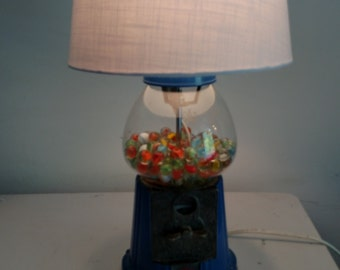 Authentic gum ball machine lamp