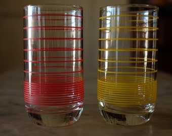 retro drinking glasses