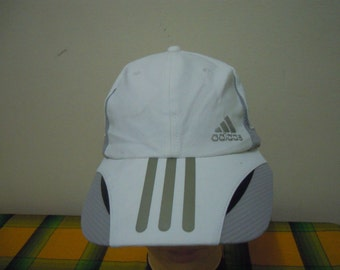 RARE Vintage ADIDAS 3 Line Strip | ADIDAS Sport | Adidas Running | Adidas Tennis Challenge Court cap hat free size for all