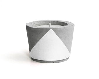 White painted Concrete - Scented Soy Wax Candle *choose your fragrance