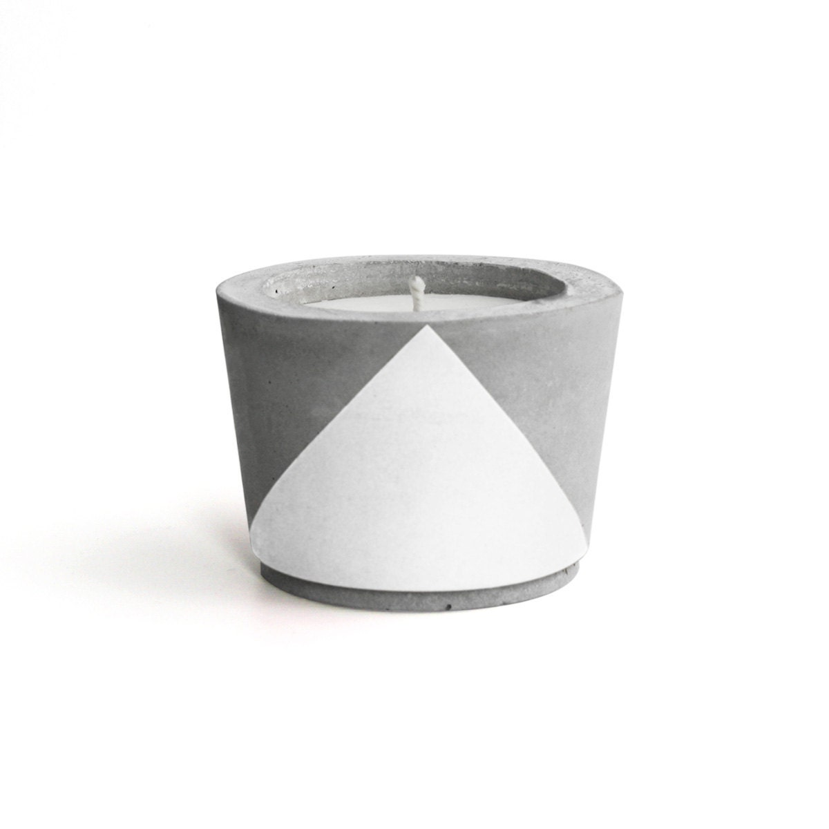 White painted concrete scented soy wax candle choose your - Zinken in concrete wax ...