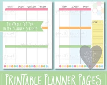Happy Planner PRINTABLE Weekly Planner Refills / Inserts - 7 x 9.25 | Sorbet | Create 365 | Me & My Big Ideas | mambi | Undated
