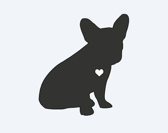 Love French Bulldog Car Decal