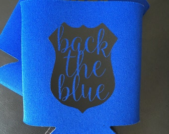 Back the Blue -  Police Support Can Cooler