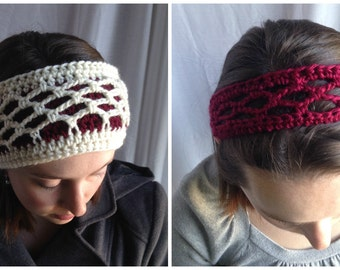 Crochet PATTERN - headband set, crochet summer headband pattern, crochet winter headband pattern, easy crochet pattern, womens headband pdf
