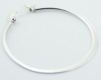 925 silver wire hoop earrings / jewelry