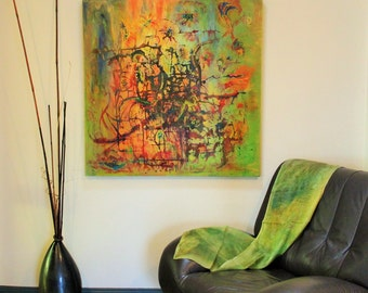 Acrylic #abstract painting, #Summer storm