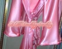 Glamorous Honey Robe 100% Pure Silk Satin robe Silk Satin Glamorous glamorous Honey luxurious gift silk dressing gown Robe Night Gown