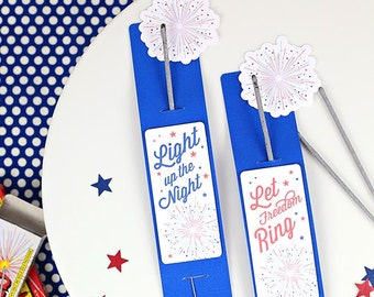 15 4th of July Patriotic Sparkler Sleeve