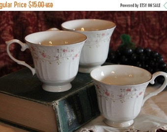 End Of Summer SALE Royal Doulton Set of 3 Tea Cups  - The Moselle Collection, Madeira Pattern, Limited 1984 Edition