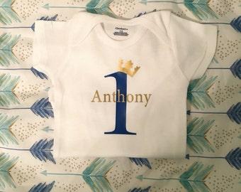 1st birthday personalized baby onesie