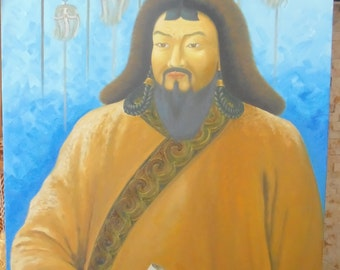 Painting of Chinggis Khan Genggis Khan