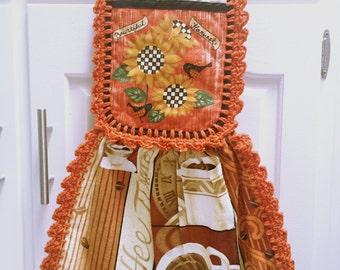 Harvested Sunflower Crochet Kitchen Towel