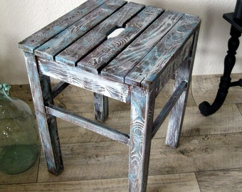 Vintage stool shabby