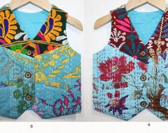 Unisex Kantha Vest 12 Months Boys Vest, Hippie Wedding, Junior Usher, Toddler Boys Clothing, Hippie Boy, Hippie Kids, Groomsman