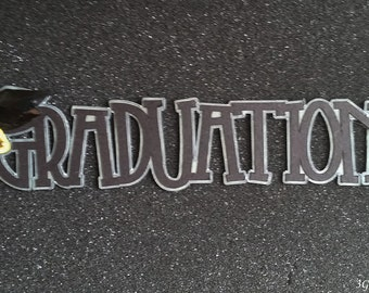 Graduation Word Art,Handmade Card Embellishment,Scrapbook Page Embellishment,Altered Art Collage,
