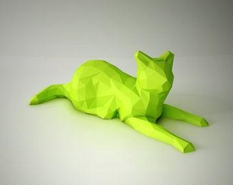 DIY PAPER SCULPTURES  - Sphinx Cat Bust Template